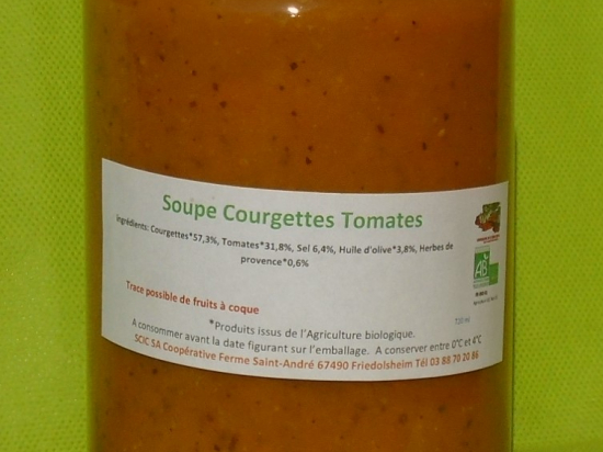Soupe Tomates/Courgettes 720ml